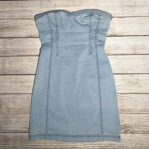 UO strapless denim dress